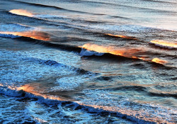 Fire Waves at Sunset