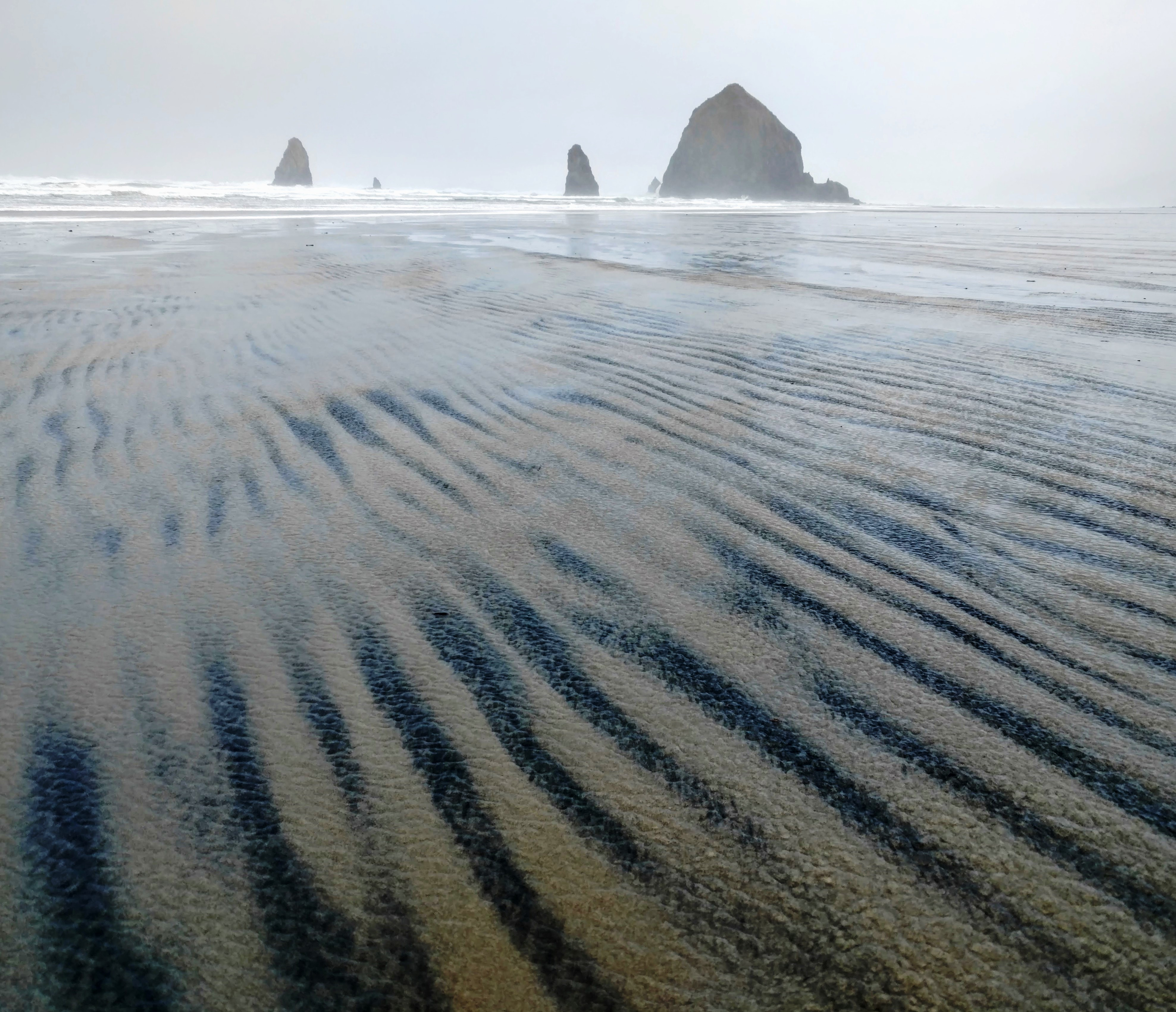 Magnetite Pattern at Cannon Beach