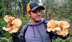 Eric Owen with Hedgehog Mushrooms