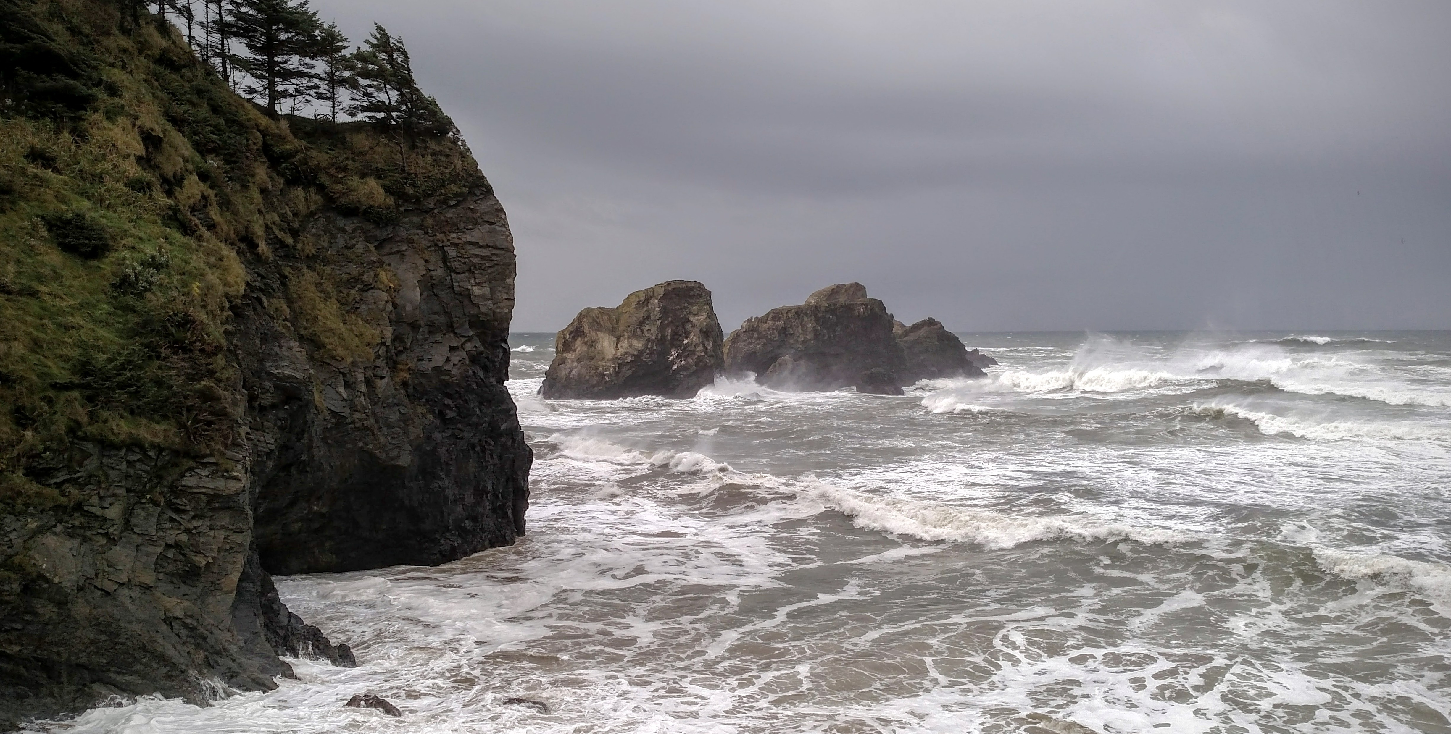 King Tide Event at Ecola