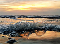 Frothy Sunset Surf