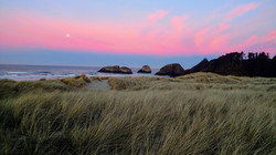 Moonset and Sunrise at Chapman Point