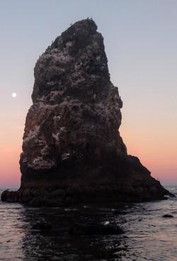 Full Moon at The Needles