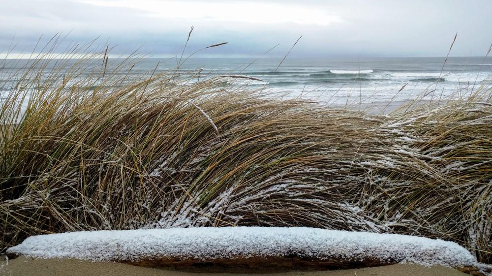 Snow on Beach