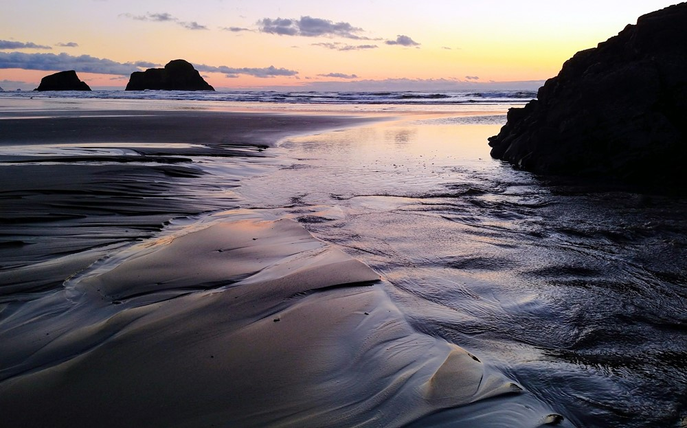 Sunset in Ecola's Tidelands