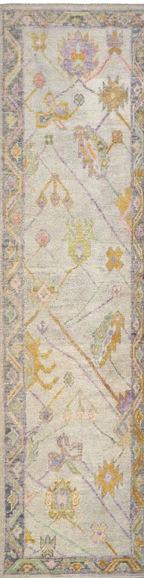1902051 Oushak Runner 3'x12'