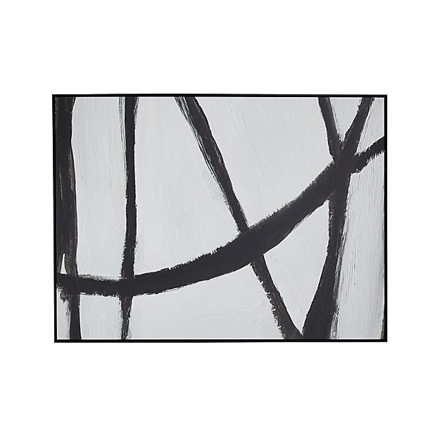 woven painting from crate & barrel