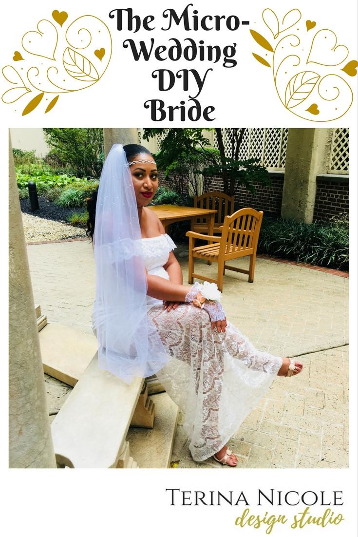 micro-wedding diy bride