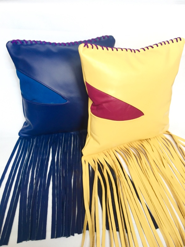 Lambskin Fringe Pillows