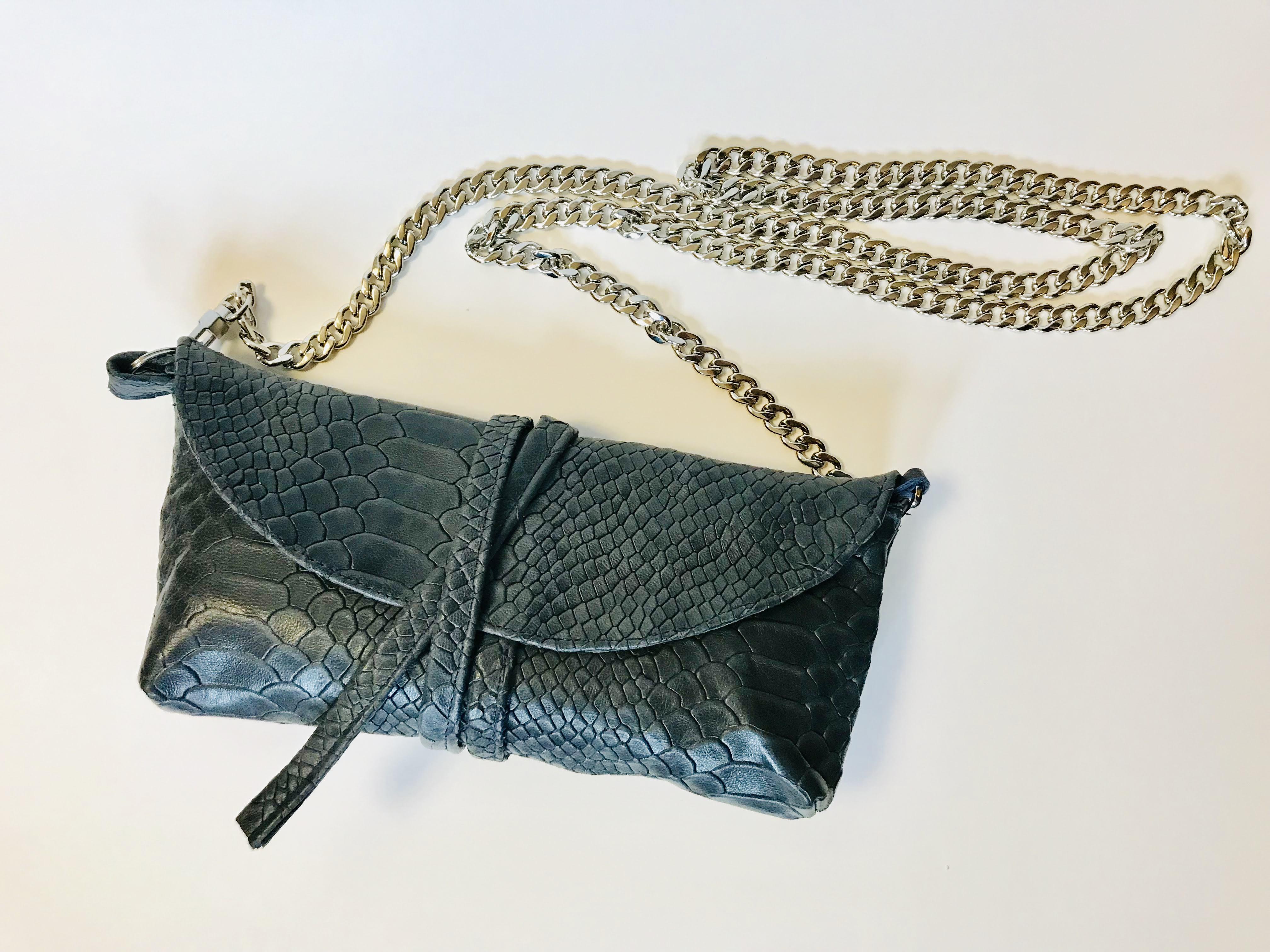Snakeskin Clutch/Crossbody Bag