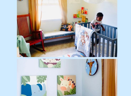 My Baby's Jungle-Themed Nursery FULL Of Thrifted Finds and DIYs