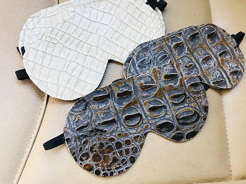 Embossed Leather Sleep Mask