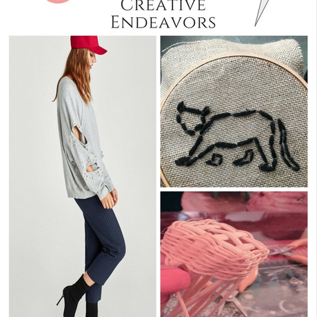 My DIY Zara Knock-off Sweatshirt + Other Recent Creative Endeavors