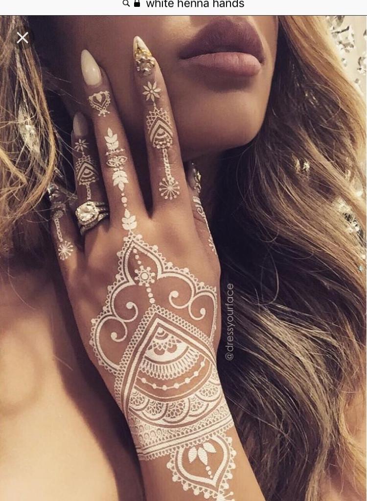 white lace henna bridal