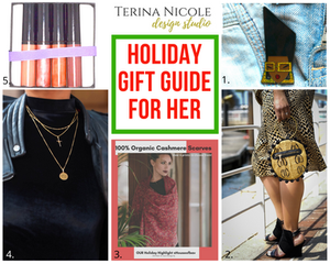 holiday gift guide for her by terina nicole design studio