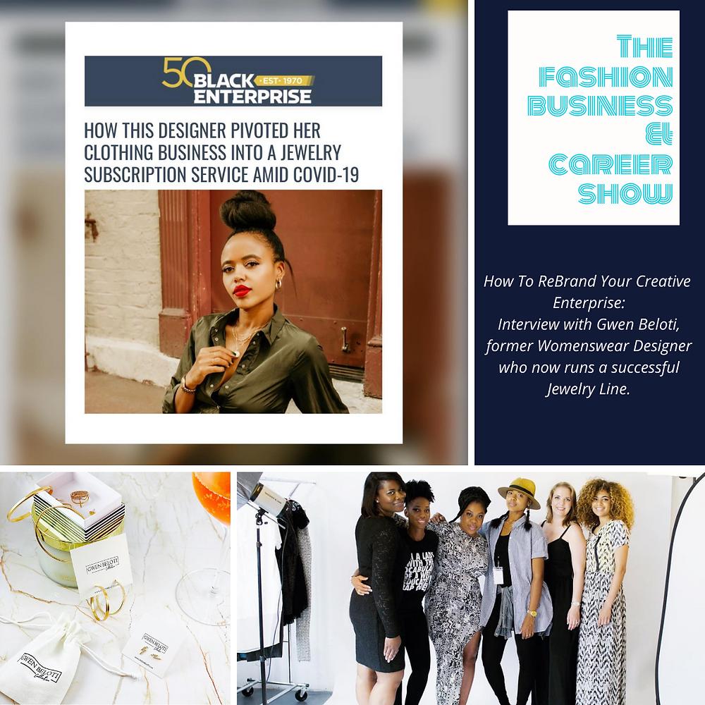 Podcast interview with womenswear designer-turned-jewelry designer Gwen Beloti