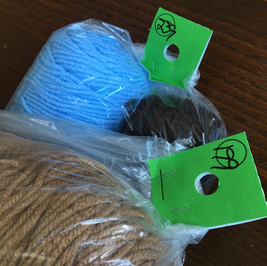 2. Get 2 spools of yarn