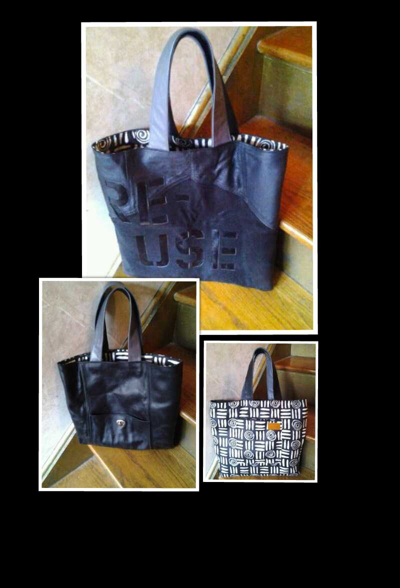 Reversible Recycled Tote