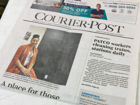 I'm in the News! :) Front Page, No Less!