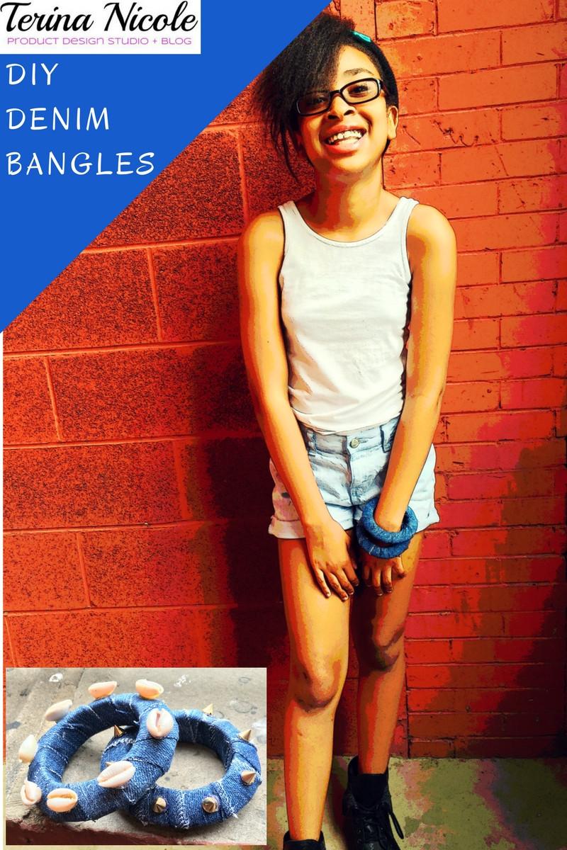 DIY Denim Bangle Bracelets