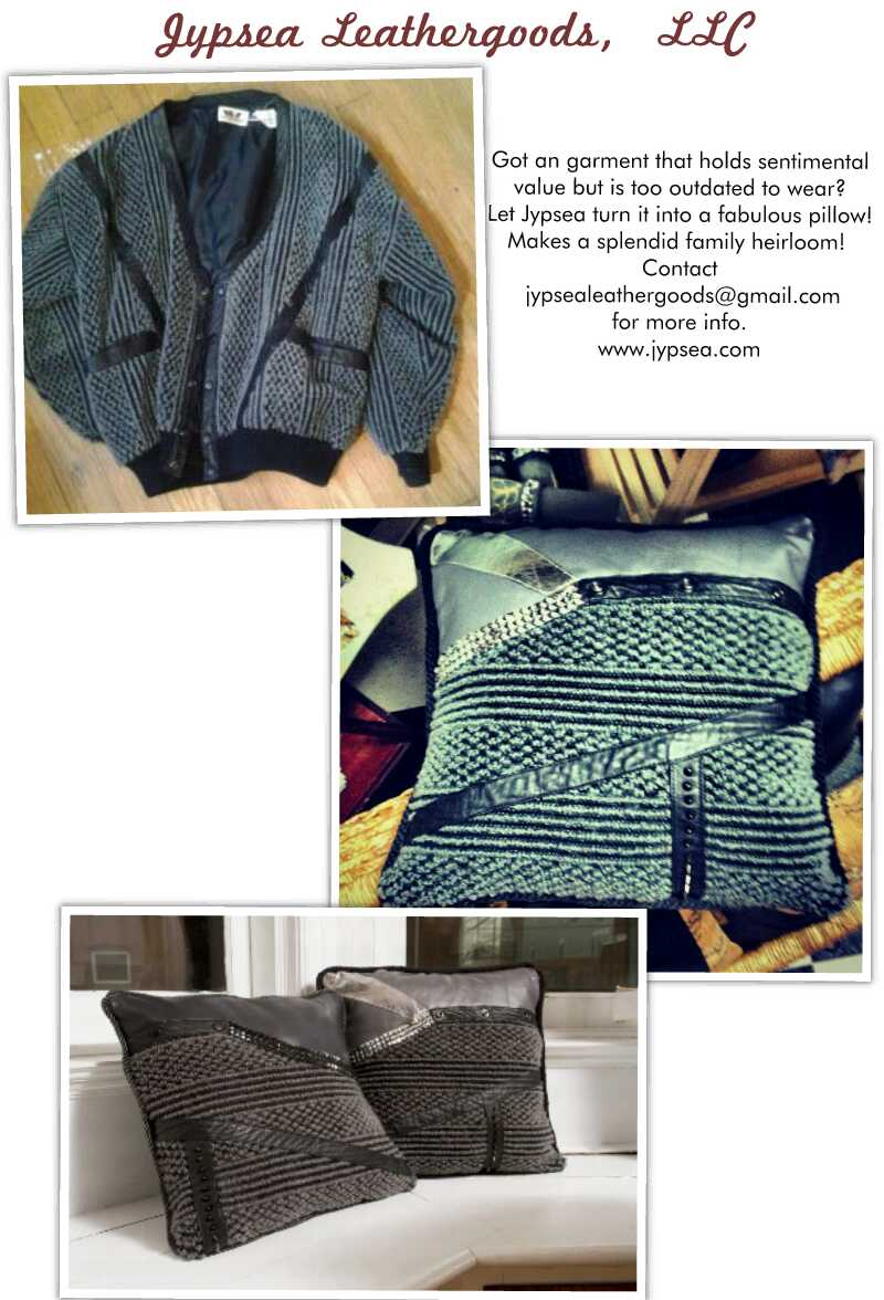 Upcycled Throw Pillows made from