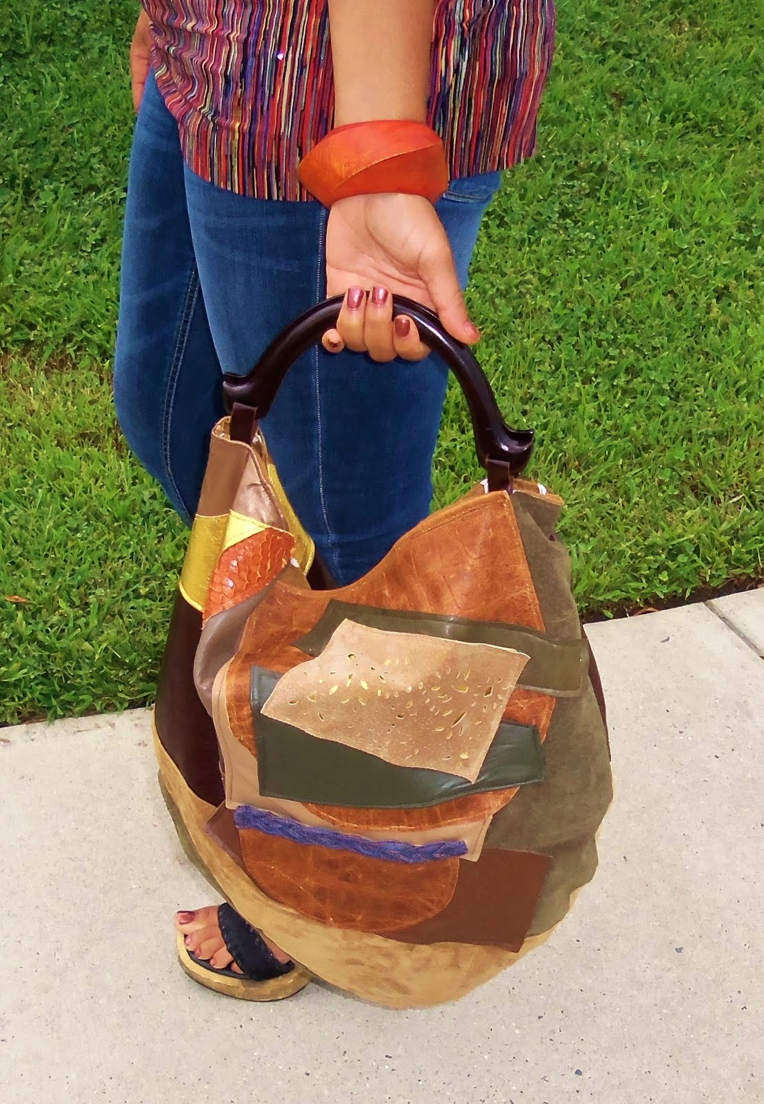Badu inspired patchwork hobo2