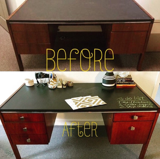 Upcycled Chalkboard Desk