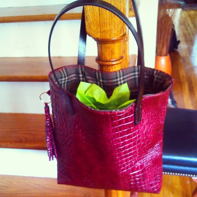 Lucille - Leather Tote with Tassel
