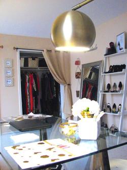 Desk and closet view