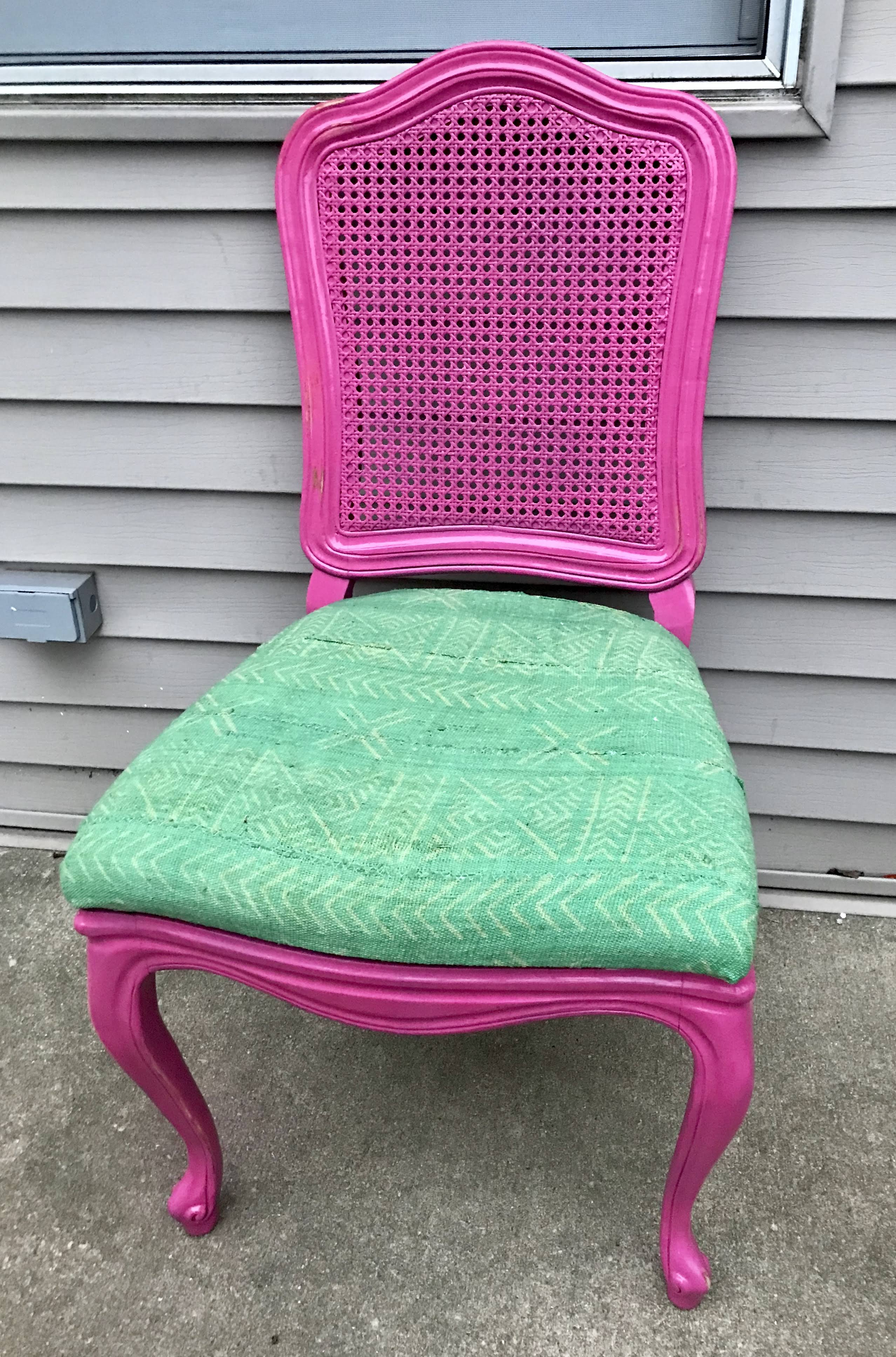 Pastel Mudcloth Chair