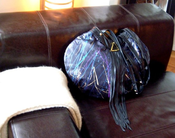 Upcyled Abstract Hobo in Navy