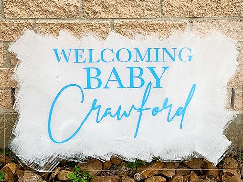 Baby Shower Acrylic Signage
