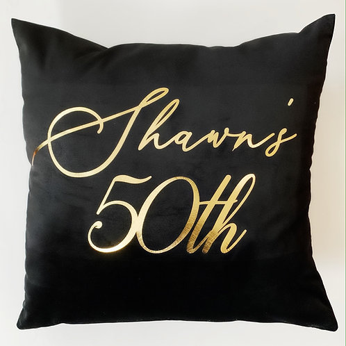 Black and Gold Custom Pillow