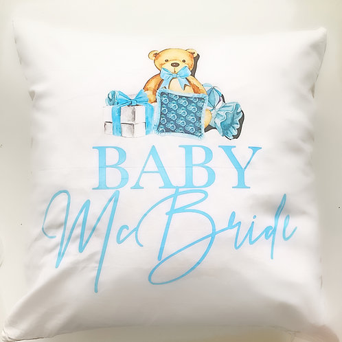 Blue Bear Pillow
