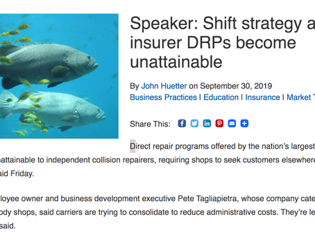 SCRS RDN Article—Speaker: Shift strategy as top insurer DRPs become unattainable