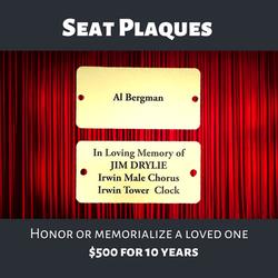 Seat Plaques