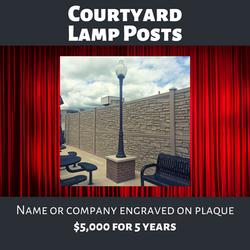 Courtyard Lamp Post