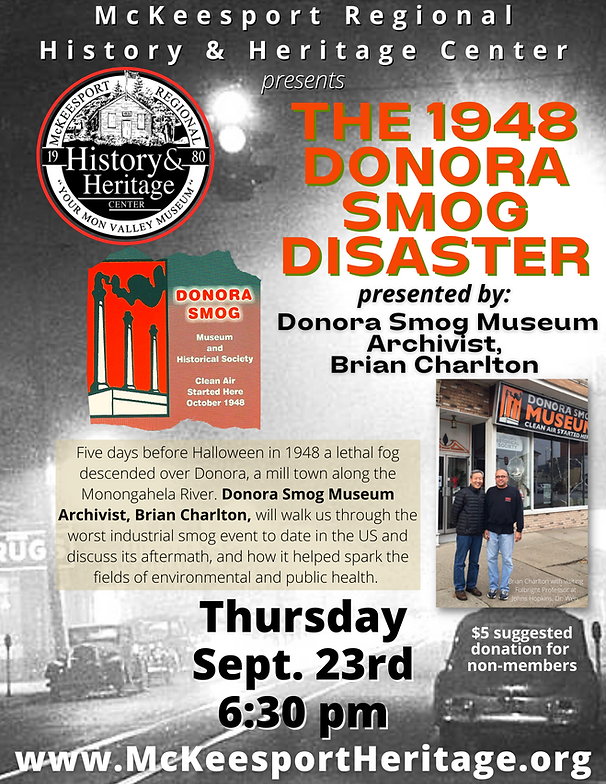 Donora Smog Museum Thurs. Sept 23rd.png