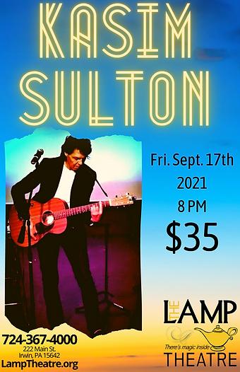 Kasim Sulton Fri. Sept. 17th 8 pm $35 11