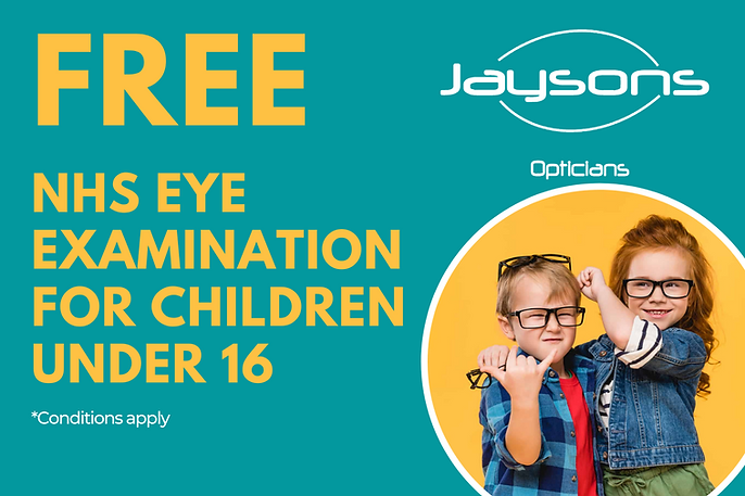 website banner - free nhs eye examinatio