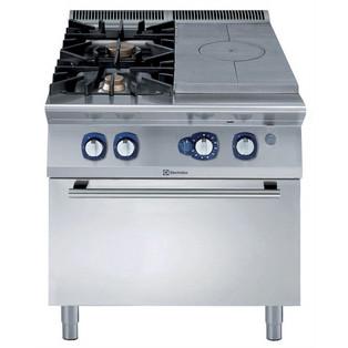 Linha de Cozinha Modular  900XP Top Sólido a Gás com Forno a Gás com 2 Queimadores com tampo de 3mm e ignição elétrica