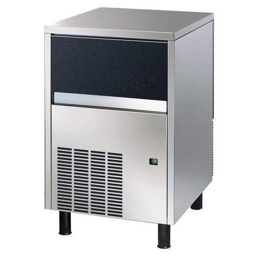 Máquina de fazer gelo, cubo, 46 kg / 24h, independente, caixa de coleta de gelo de 25 kg incluída, refrigerada a água (cubo de gelo: 33 gr)