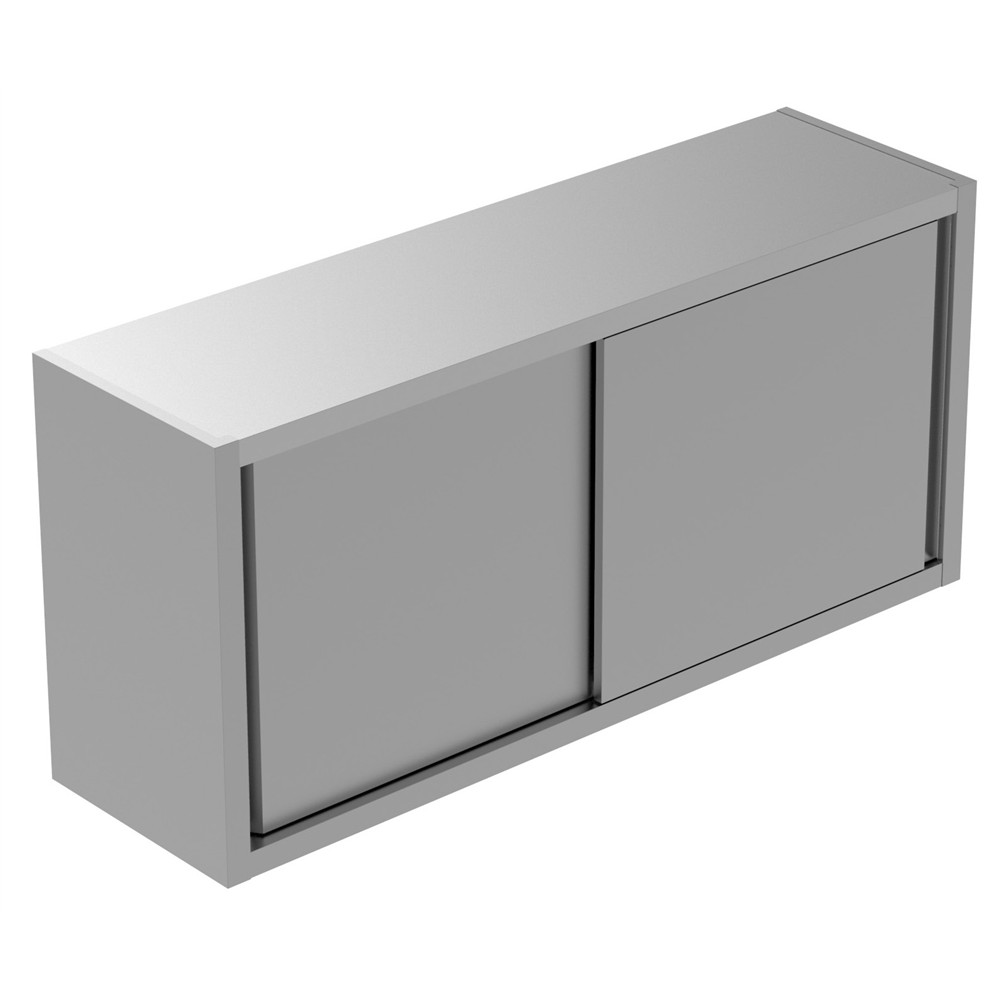 Preparação Estática  Armário de Parede de 1400 mm com 2 Portas Deslizantes 134078 Armário de parede com 1 prateleira e 2 portas de correr, 1400mm