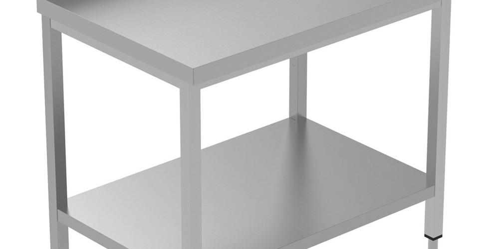 Mesa de trabalho com preparo estático de 1000 mm com apoio para cima e prateleira inferior 134093 Mesa de trabalho com prateleira inferior e upstand, 1000mm