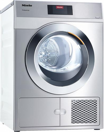 Secador de saída de ar, a eletricidade com tempos de programa especialmente curtos. Rendimento 8,0 kg em 42 minutos.