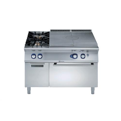 Linha de Cozinha Modular 900XP Topo Sólido a Gás com Forno a Gás com 2 Queimadores no armário com tampo de 3mm e ignição eléctrica