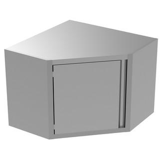 Armário de Parede Tipo Canto de Preparação Estática com 1 Porta 134081 Tipo de canto de armário de parede com 1 prateleira e 1 porta com dobradiças