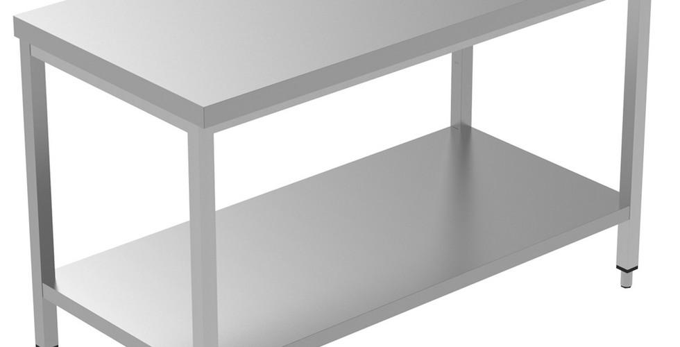 Preparação Estática  Mesa de Trabalho de 1300 mm com Prateleira Inferior 134085 Mesa de trabalho com prateleira inferior, 1300mm
