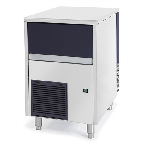 Maquina de pedras de gelo, 90 kg / 24h, caixa de recolha de gelo de 20 kg incluída, arrefecida a ar