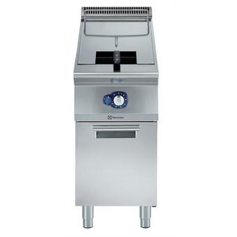 """Fritadeira a gás de 15 litros com poço em forma de 1 """"V"""" (queimadores externos) e 1 cesto"""